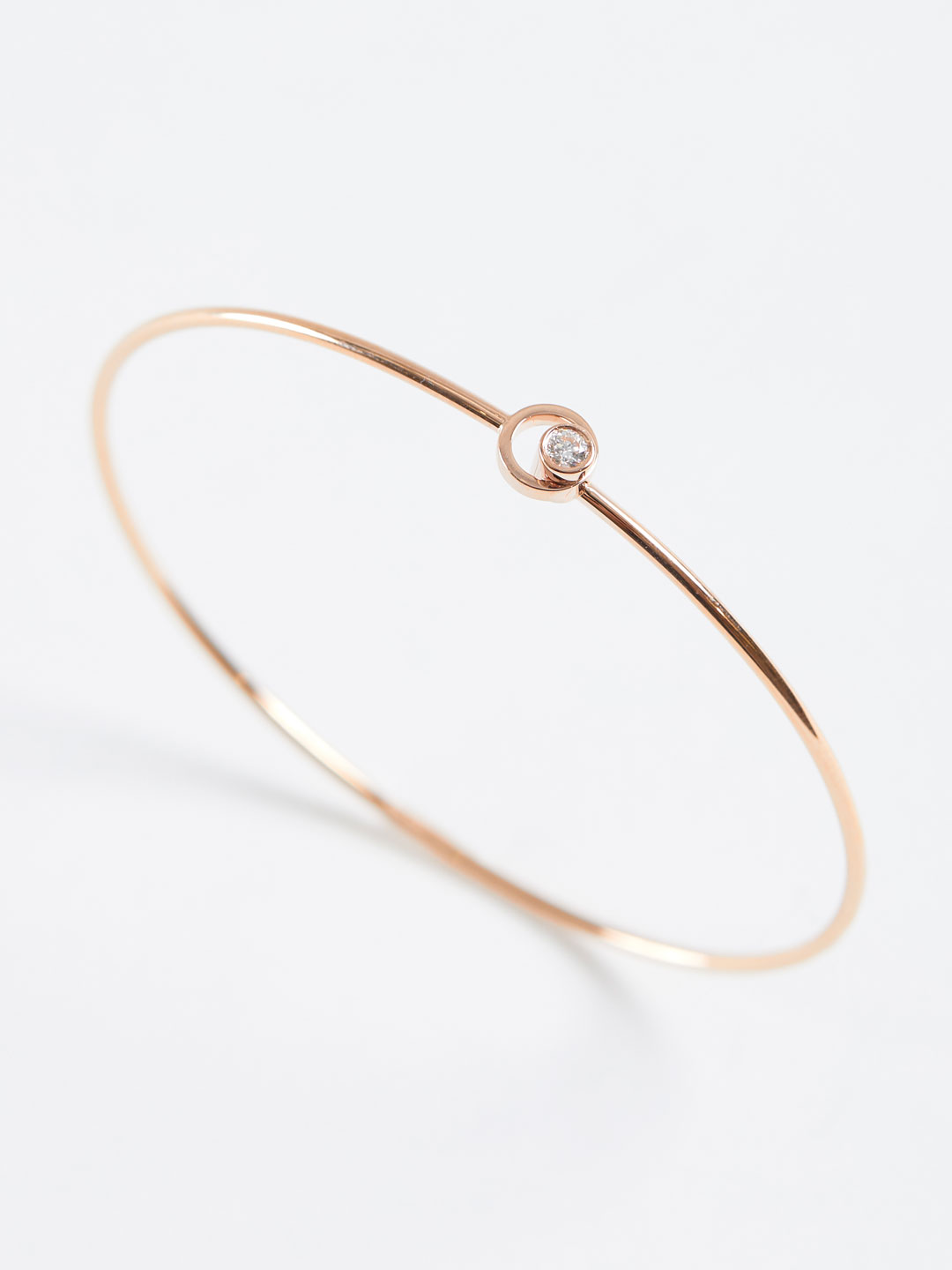 Diamond Circle Motif Bracelet - Rose Gold