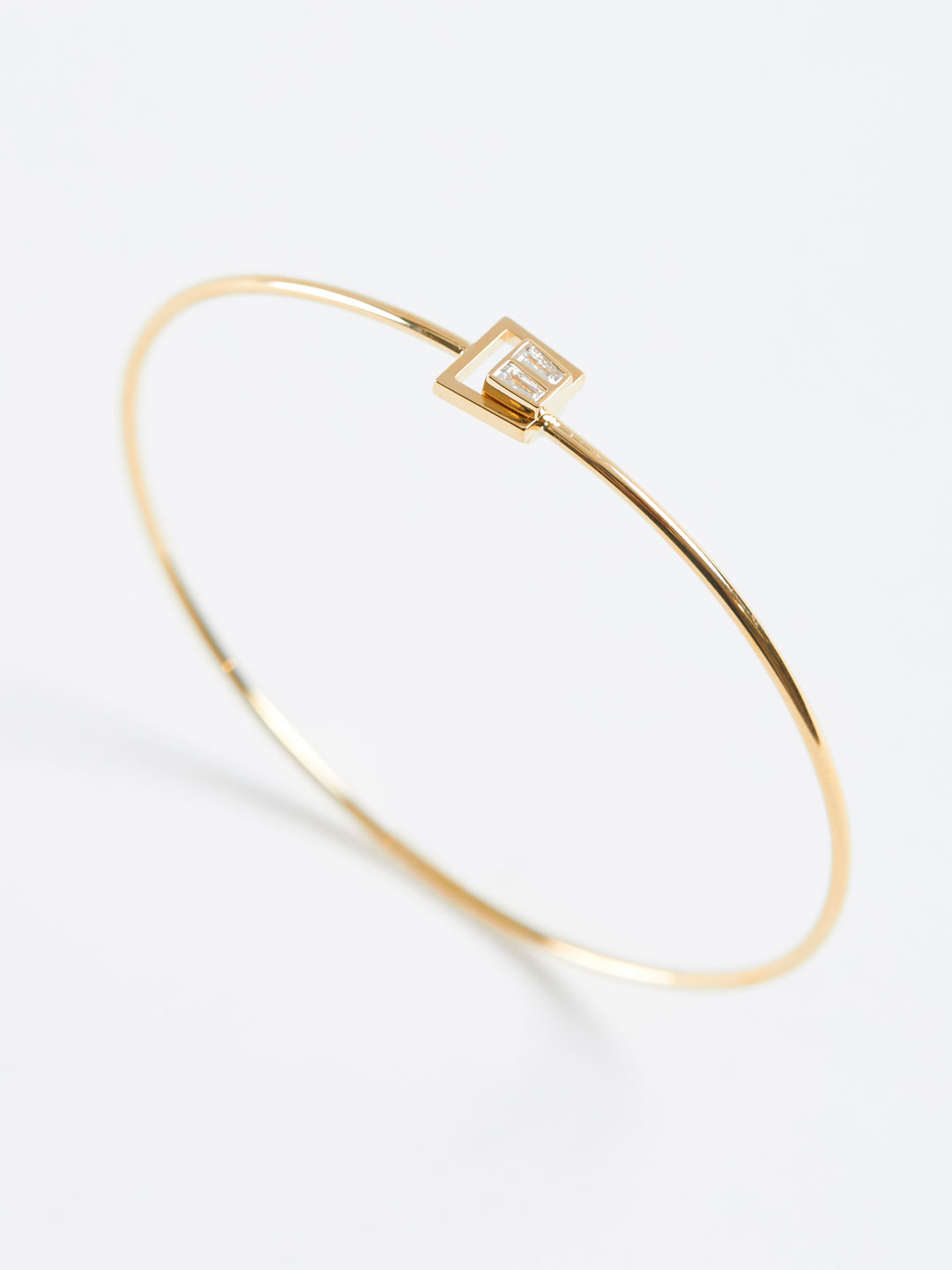 Diamond Trapezoid Motif Bracelet - Yellow Gold