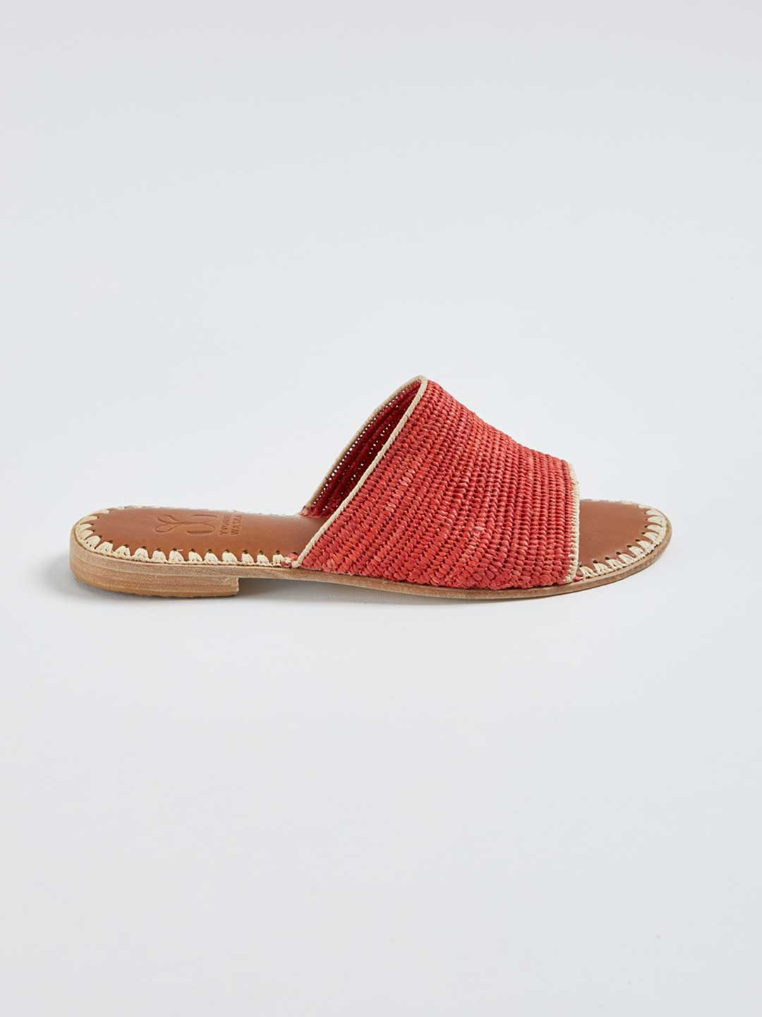ROSALIE Hand Woven Flat Sandals - Orange