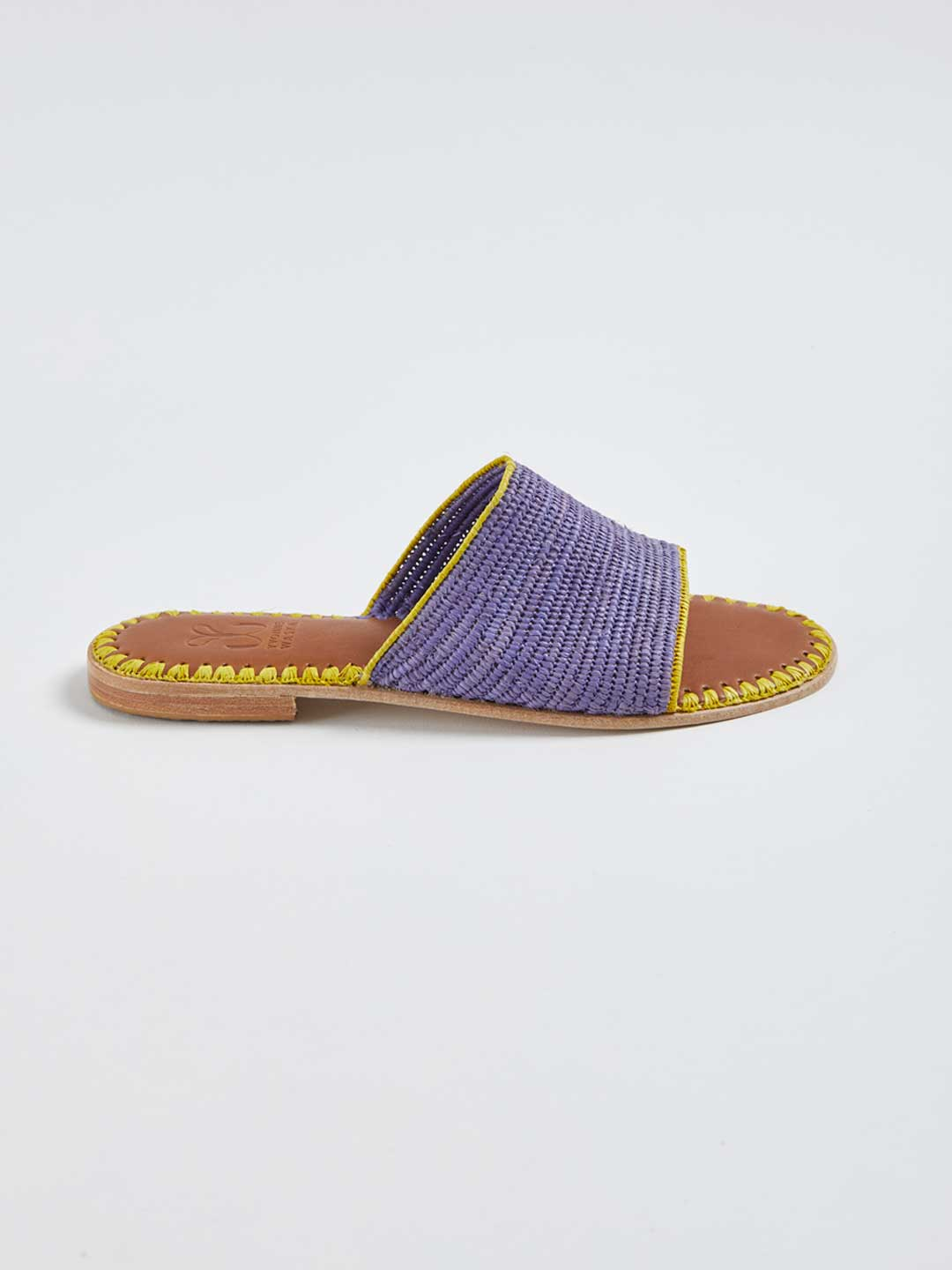 ROSALIE Hand Woven Flat Sandals - Purple