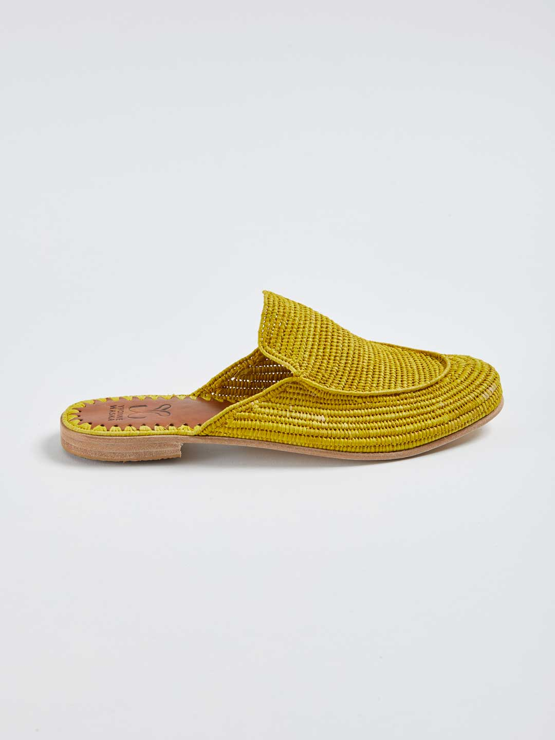 MARNIE Hand Woven Slippers - Yellow