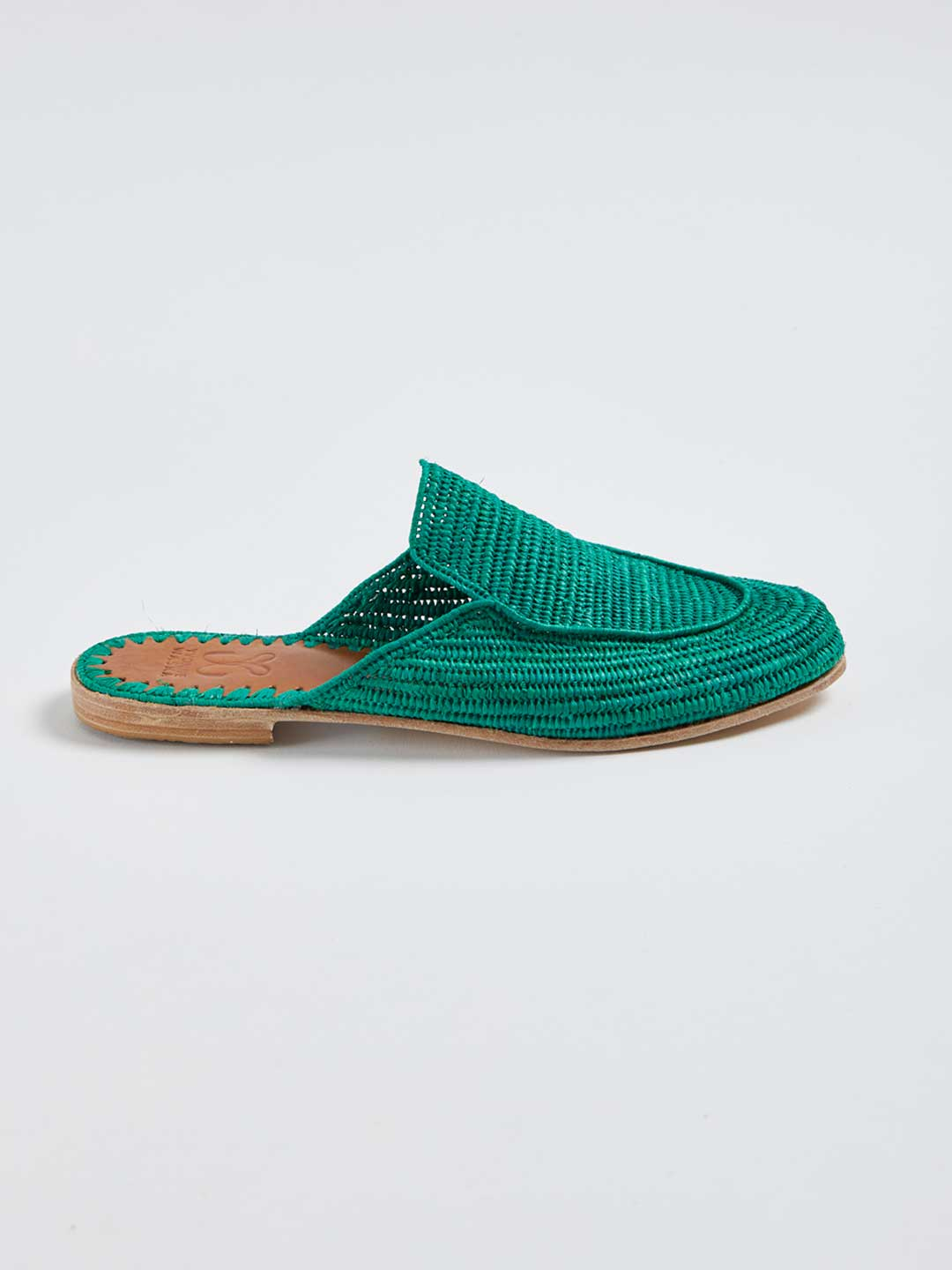 MARNIE Hand Woven Slippers - Green