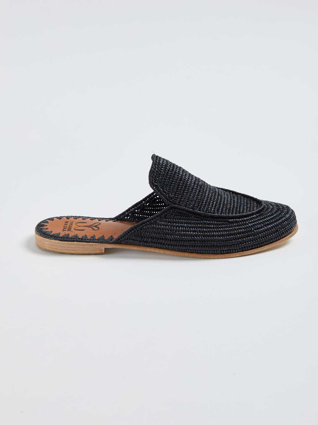MARNIE Hand Woven Slippers - Black