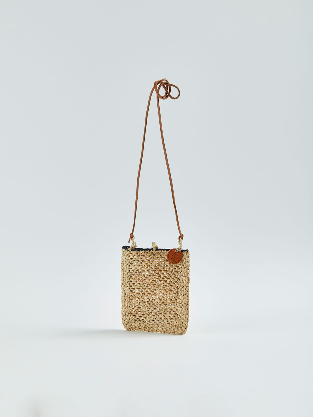 MINIE Small Raffia Shoulder Bag - Natural