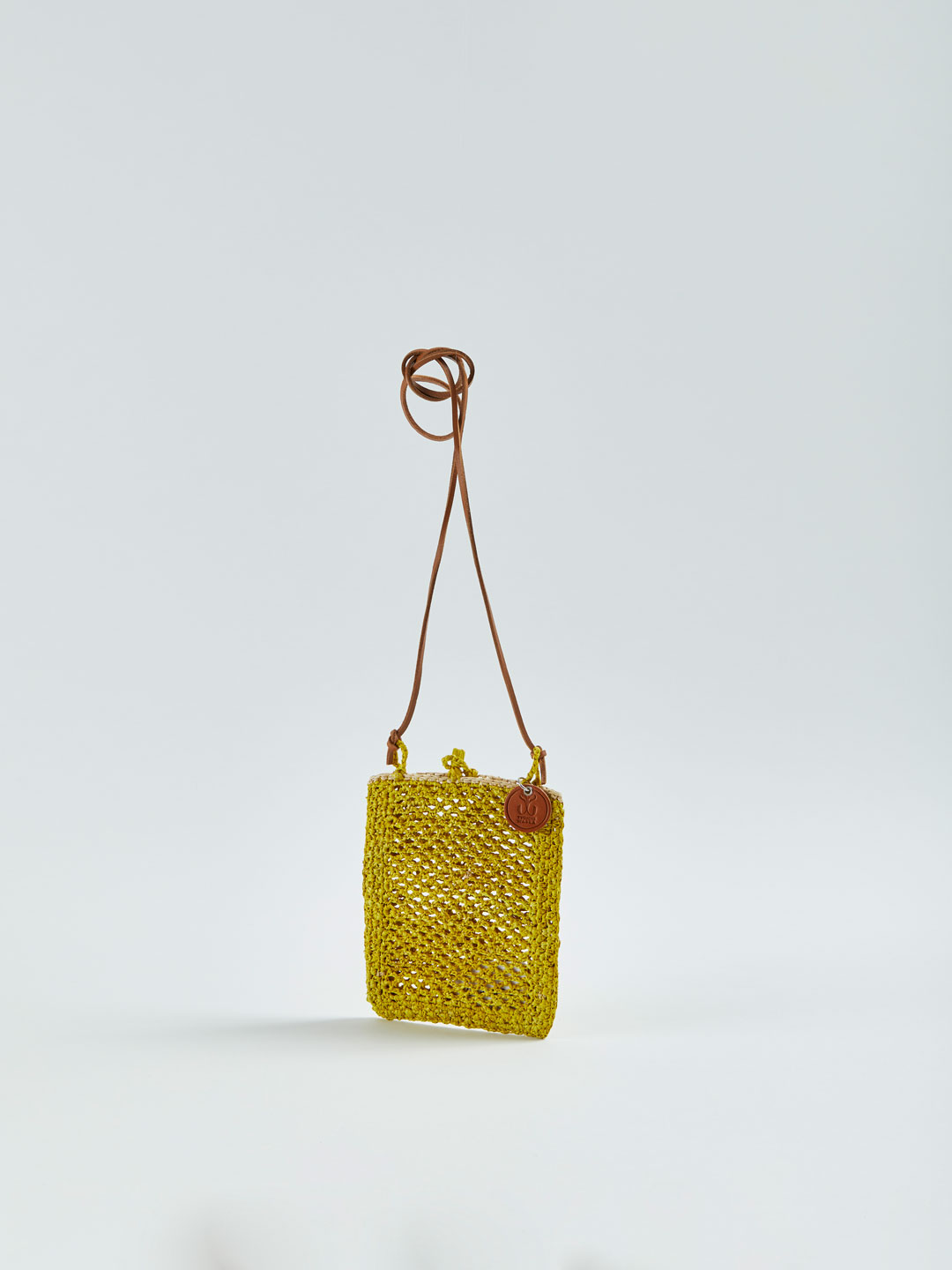 MINIE Small Raffia Shoulder Bag - Yellow